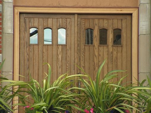 Custom Made Mission Style Double Entry Doors