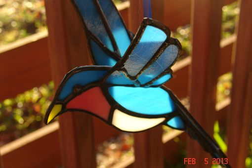 Custom Made Stained Glass 3d Flying Birds
