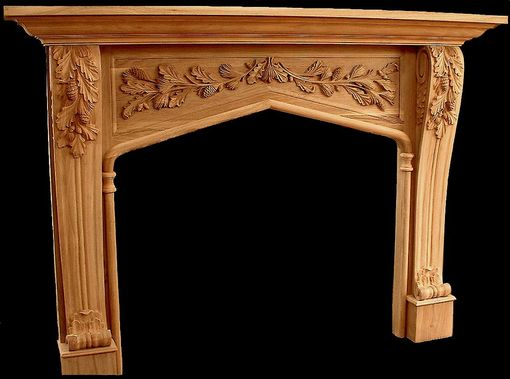 Custom Made Pine And Evergreen Mantel