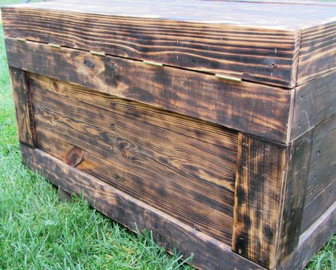 Custom Made Reclaimed Wood Chest Large Made From Reclaimed Wood Pallets - Hope Chest - Toy Chest - Coffee Table