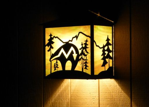 Custom Made Spirit Bear Wall Light