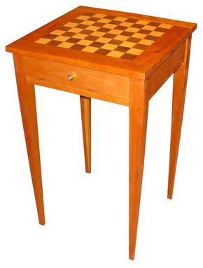 Custom Made Cherry Checker Table