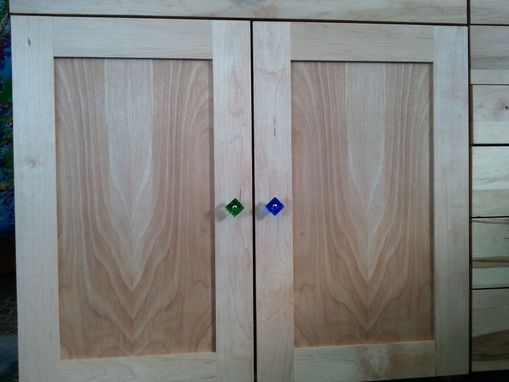 Custom Made Maple Office Cabinets