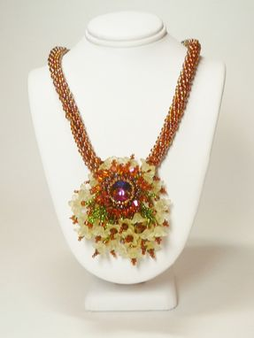 Custom Made Sunflower Kumihimo Necklace