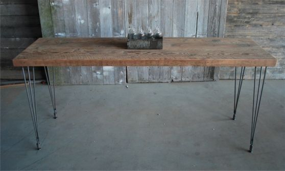 buy a handmade reclaimed wood mid century modern dining table made to