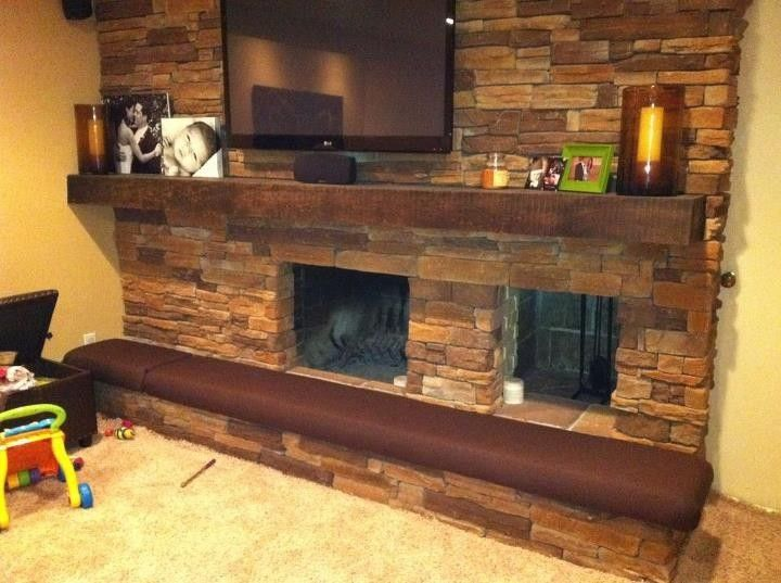 Hand Made Man Cave Fireplace Hearth Cushion by Hearth And Home ...