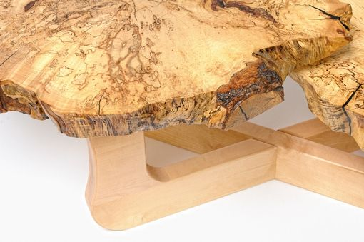 Custom Made Coffee Table With Live Edge