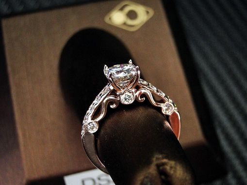 Custom Made 14k Rose /Pink Gold Engagement Ring