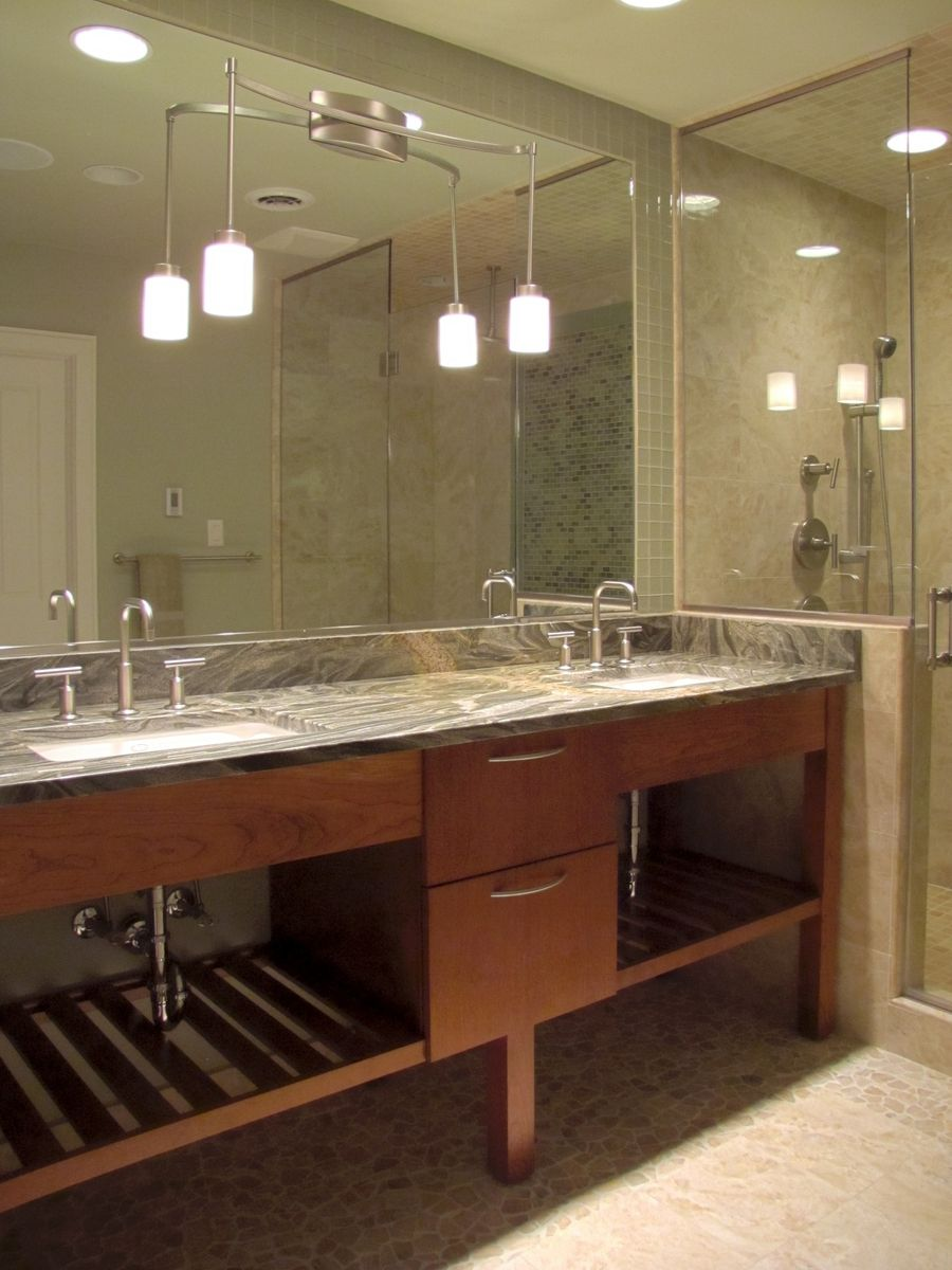 Spa Bathroom Vanities Custom Cherry Bathroom Vanitymetropolitan Woodworking