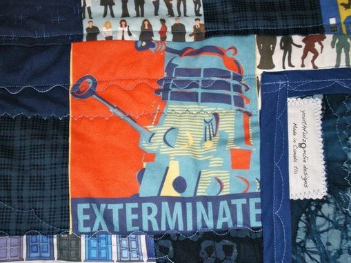 Custom Made Doctor Who Quilt