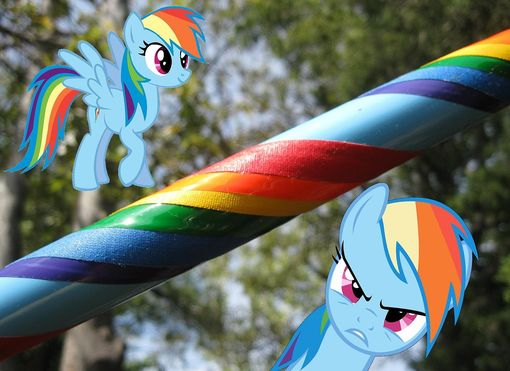 Custom Made Rainbow Dash Style Hula Hoop - Collapsible Weighted Travel Hula Hoop