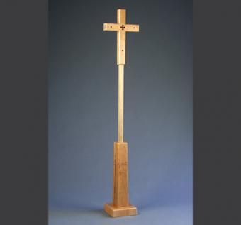 Custom Made Processional Cross And Stand