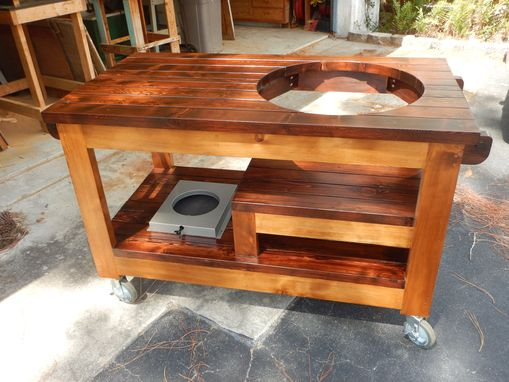 Custom Made Custom Grill Table For A Ceramic Grill