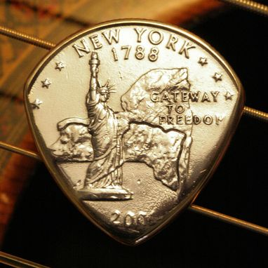 Custom Made Usa Coin Guitar Pick - Any State - Your Choice - Personalized Gift