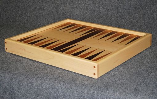 Custom Made Backgammon Board, Solid Hardwood