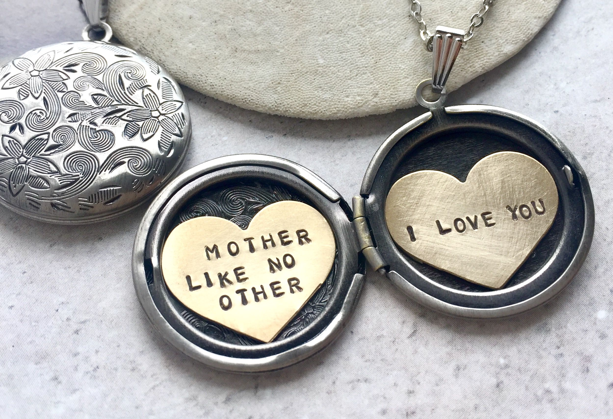 zoom silver engravable sterling secret heart message locket to hover lockets