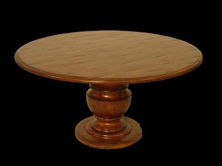 Custom Made Solid Pedestal Table