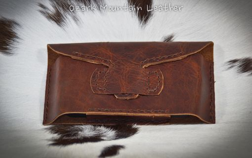 Custom Made Iphone 4s Leather Horizontal Case
