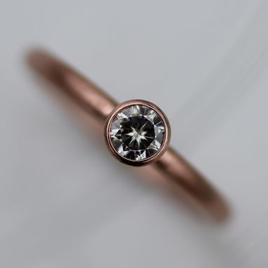 Custom Made Subtle Moissanite Engagement Ring