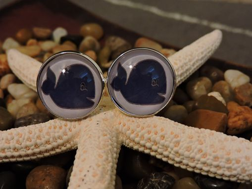 Custom Made Customer 20mm Sterling Silver Plated Glass Bezel Cufflinks