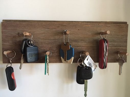 Custom Made Reclaimed Barn Siding Key Rack