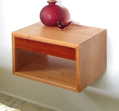 Custom Made Cherry Or Walnut Hardwood Floating Night Stands, Set Of 2