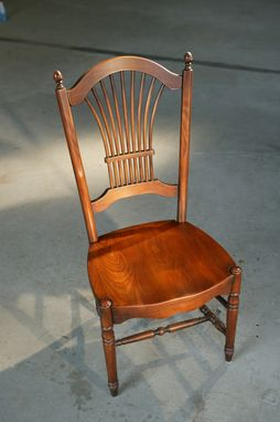 Custom Made Fan Back Dining Chair In Fruitwood