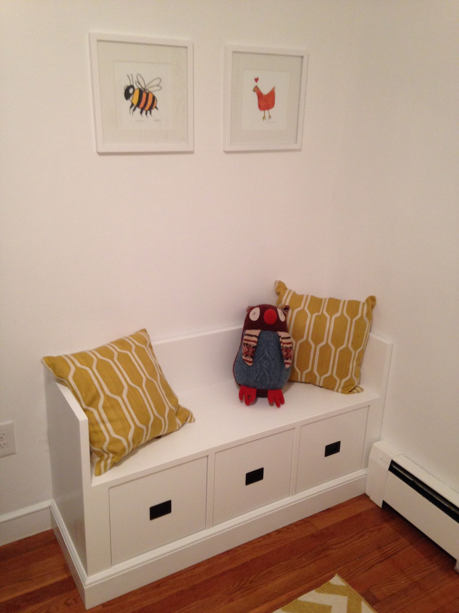 Custom Made Nursery Storage Bench