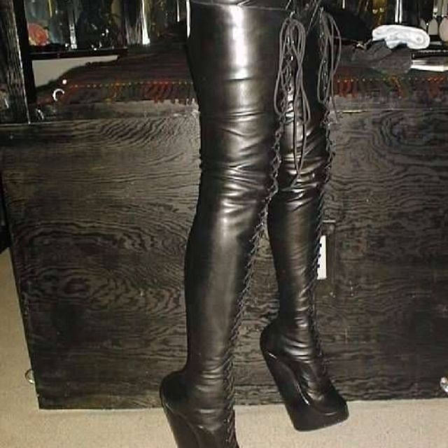 d6fb4ddc4f2 Hand Made Wedge Heeled Kneehigh Boots by Custom Boots