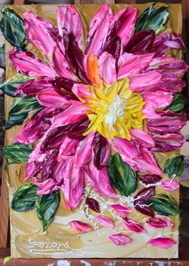 "Custom Made ""Delilah's Dahlia"" Impasto Painting"