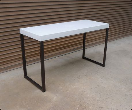 Custom Made Steel And Concrete Sofa Table