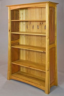 Custom Made Reclaimed Bookcase In Pine And Redwood