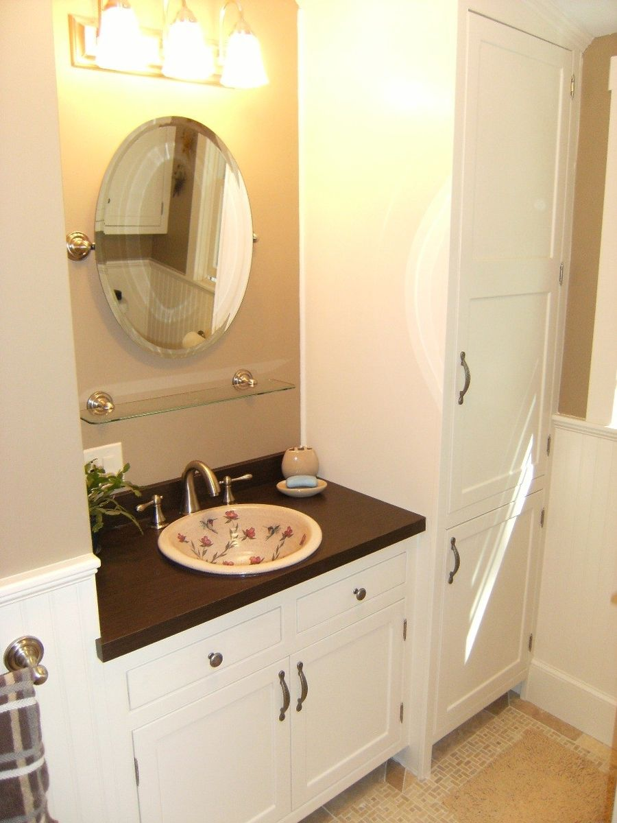 Hand Crafted 2nd Floor Bath Remodel With Custom Cabinets