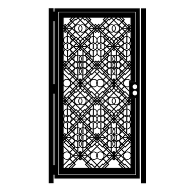 Custom Made Decorative Steel Gate - Concentric - Art Deco Design - Custom Gate - Artistic Steel Wall Panel