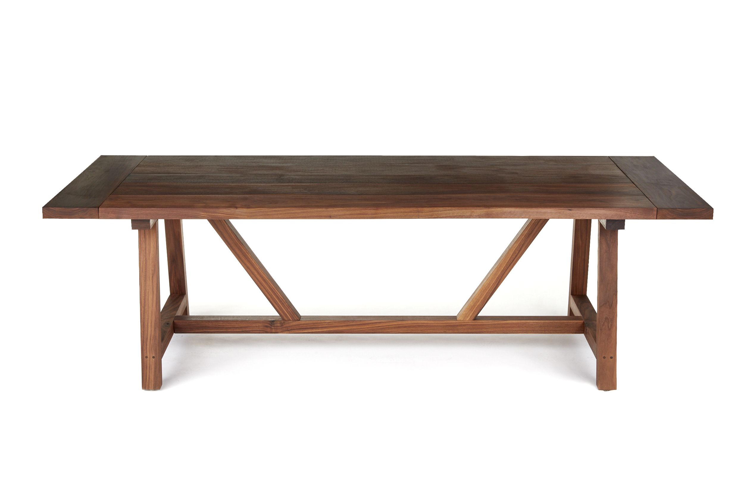 hand made solid walnut trestle dining table by the urban reclaimed co. Black Bedroom Furniture Sets. Home Design Ideas