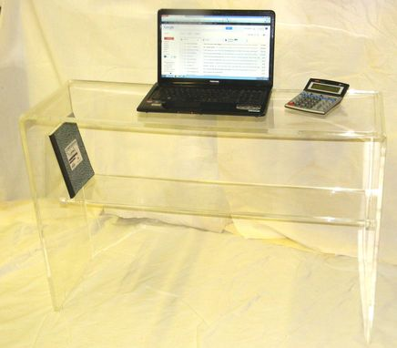 Custom Made Waterfall Console Table With Shelf - Stunning Handcrafted Table - Custom Size Welcome