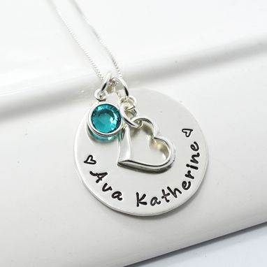Custom Made Personalized New Mommy Necklace | Hand Stamped Mothers Necklace
