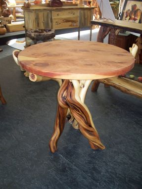 Custom Made Round Center Piece Twisted Juniper Table