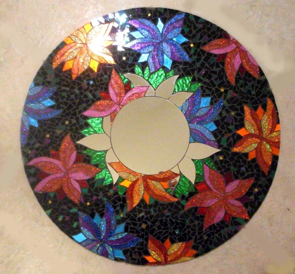 Custom Made Mosaic Stained Glass Mirror by Sol Sister ...