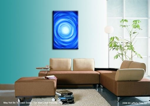 Custom Made Original Abstract Painting, Abstract Blue, Original Modern Painting, By Dan Lafferty - 24 X 36