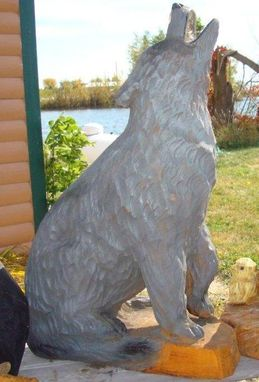 Custom Made Howling Wolf, Full Body,