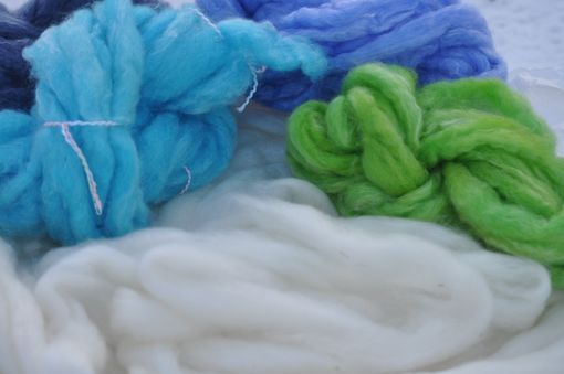 Custom Made Bluefaced Leicester Tencel Blend Roving Spin Felt Knit Weave