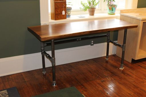 Custom Made Black Walnut Slab Desk
