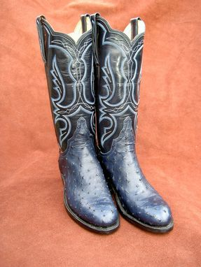 Custom Made Blue Ostrich Boots