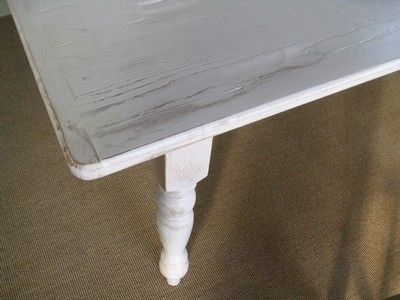 Custom Made White Farm Style Dining Room Table