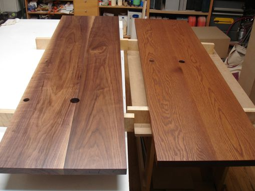 Custom Made Walnut, And White Oak Counter Tops.