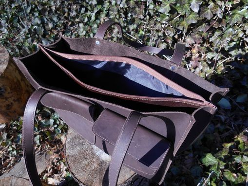 Custom Made Leather Day Bag