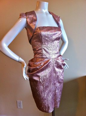 Custom Made Cocktail Dress With Bolero