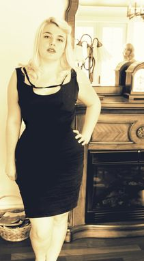 Custom Made Custom Couture Marilyn Monroe Black Silk Sexy Wiggle Dress