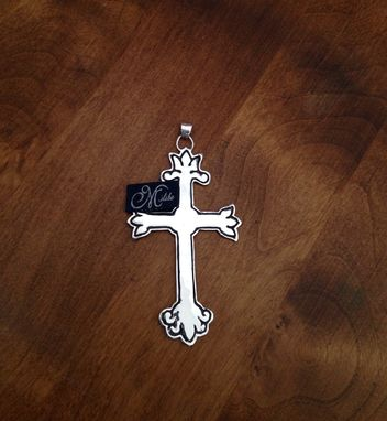 Custom Made Lotus Cross Pendant